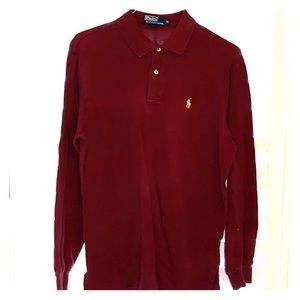 GUC Maroon Long Sleeve Polo Shirt